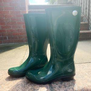 Dark Green UGG rain boots